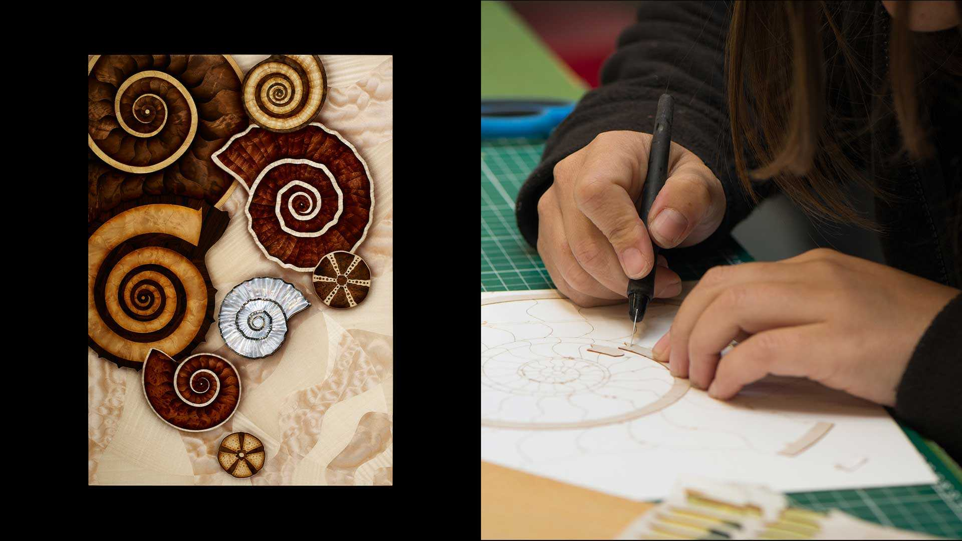 Silverlining Furniture Ammonite Shore Marquetry Combined